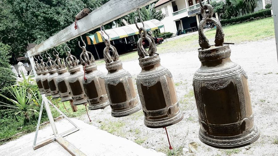 Outdoors Day No People Bells Bills In Temple