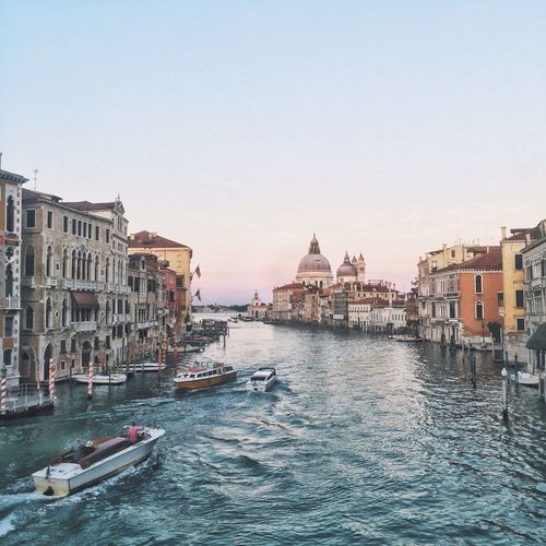 Italy Venice Architecture Building Exterior Nautical Vessel Built Structure Transportation Clear Sky Mode Of Transport Gondola - Traditional Boat No People Water Religion Outdoors Waterfront Spirituality Day City Sky
