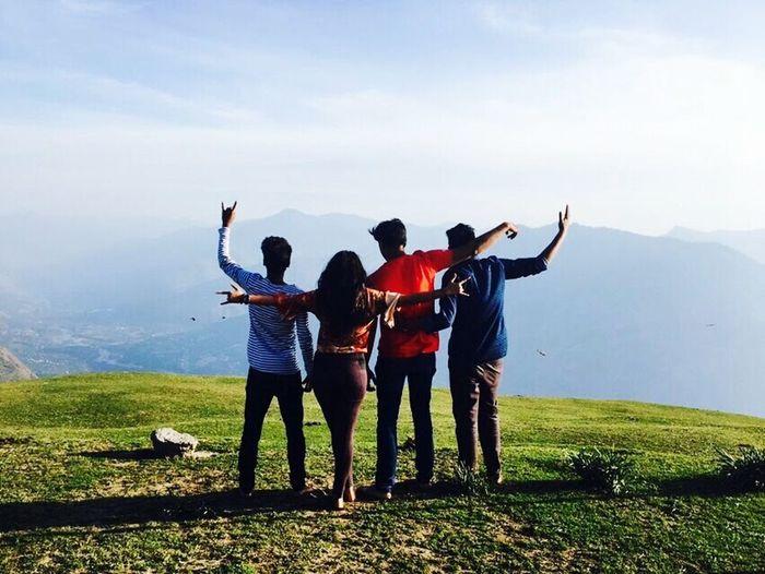 Freindship Goals TrekkingDay Togetherness Mountain Calling Himachal😇😀😊 Click_india_click EyeEm Best Shots