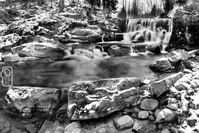 Winter waterfall Beauty In Nature Blurred Motion Day Forest Landscape Long Exposure Motion Mountain Nature No People Outdoors Poland River Scenics Stone Tranquil Scene Tranquility Tree Water Waterfall