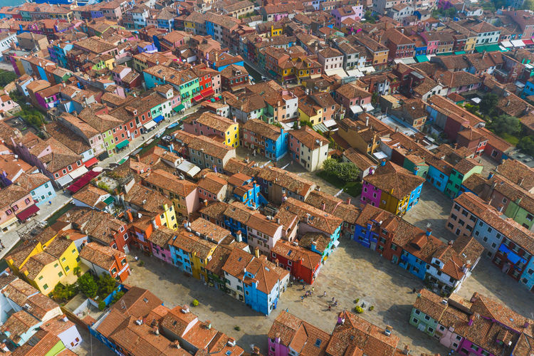 Colourful houses of Burano, Venice look like Lego toys all lined up Week On Eyeem Architecture Building Exterior Aerial View High Angle View Built Structure City Landscape Building Cityscape Day Community No People Nature House Outdoors Burano Italy Venice Dji Drone  Colourful Venice, Italy