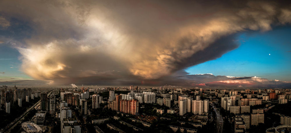 Crazy nature Ленинский проспект 111 Moscow Moscow City Moscow, Москва Moscow, Russia ЛенинскийПроспект Cityscape Dramatic Sky City Storm Urban Skyline Cloud - Sky Storm Cloud Extreme Weather Sky No People Outdoors Thunderstorm Aerial View Architecture Skyscraper Sunset Power In Nature Built Structure Building Exterior City Life Day The Graphic City Mobility In Mega Cities