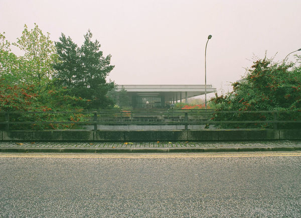 120 120 Film 120mm Absence Landscape Medium Format Outdoors Road Sidewalk Urban