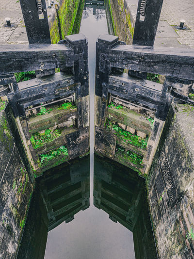 High angle view of abandoned building