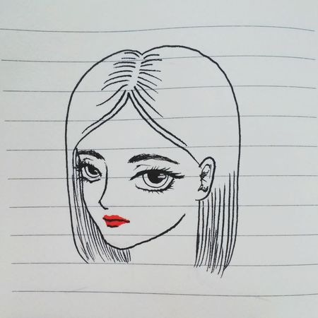 | ALEXITHYMIA | Drawing - Art Product Sketch Creativity One Person Adults Only Paper One Woman Only Drawing - Activity Adult Portrait Only Women People Sketch Pad Headshot Human Face Human Body Part One Young Woman Only Young Adult Day Leisure Activity Taking Photos No People Close-up