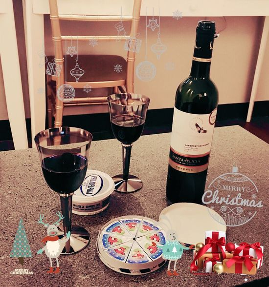 Christmastime Merry Christmas Wine Red Wine Drunk Relaxing Enjoying Life Enjoy Christmas2015 Sweet IPhoneography Drinking Nightlife