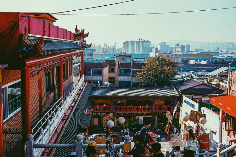Architecture Built Structure Building Exterior City Day Outdoors Real People Sky Large Group Of People Clear Sky Tree People