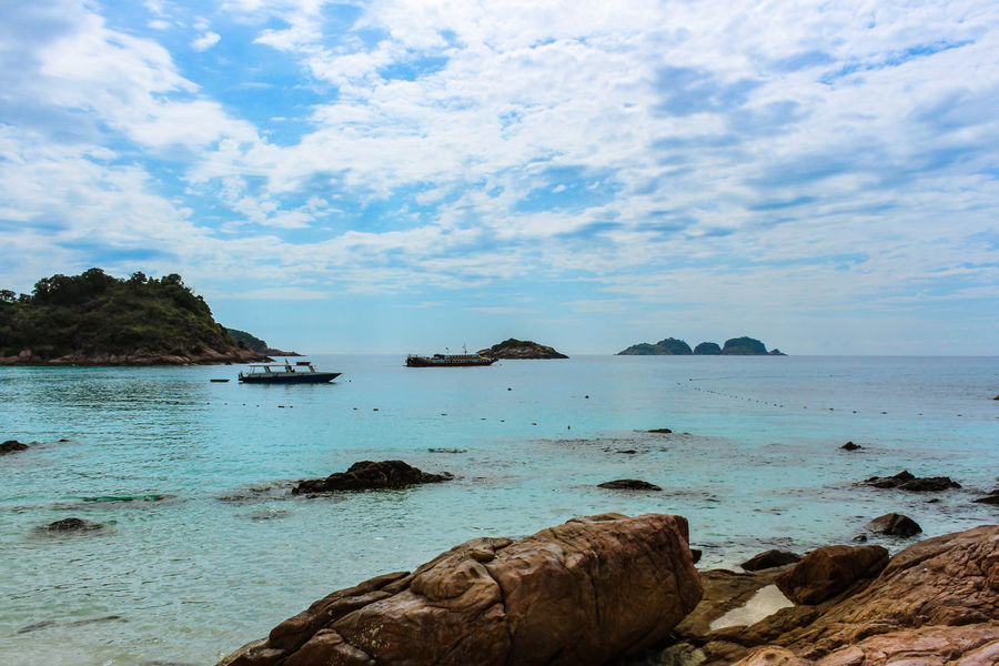 ASIA Redang Island Beauty In Nature Cloud - Sky Clouds Day Horizon Over Water Idyllic Malaysia Nature Nautical Vessel No People Outdoors Rock Rock - Object Rock Formation Scenics Sea Sky Tranquil Scene Tranquility Water