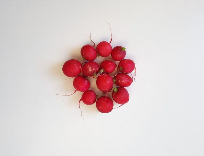 Radishes Healthy Eating Freshness White Background No People Nature Loosing Weight  Raw Food Garden Radishes Ready-to-eat On The Table Red Vegetable Lifestyles Salad Vitamins Energy Large Group Of Objects Indulgence Take A Bite Shades Of Red Arranged Objects Close-up Food Freshness
