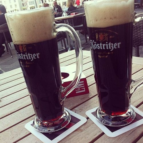 Köstrizer Bier Lecker mit Seeblick trinken