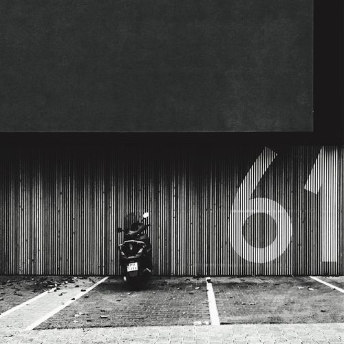 Blackandwhite Minimalism Number Digits Parking Modern Architecture Scooter Welcome To Black
