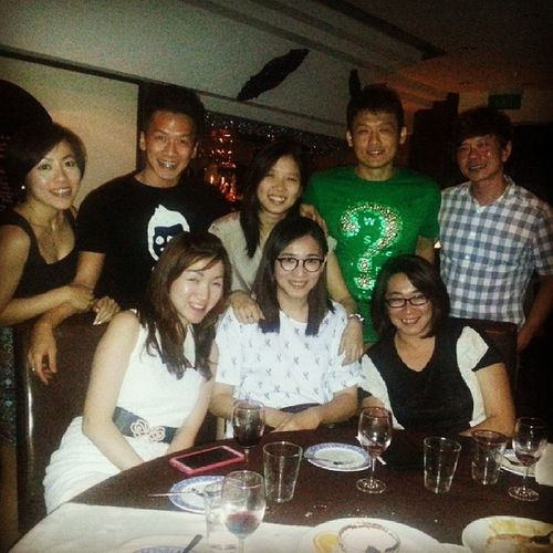 Feeling glad to have this bunch of craziness cousins. Gossip Eating Amitabha Laughing