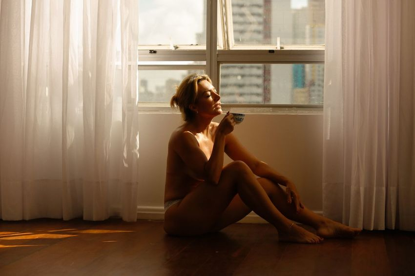 Breathing Space Window One Person Real People Young Women Sitting Women Night Lights Lifestyles Portrait Of A Woman Home Interior Sensual_photo Budoir Breakfast Coffee Coffee Time The Week On EyeEm
