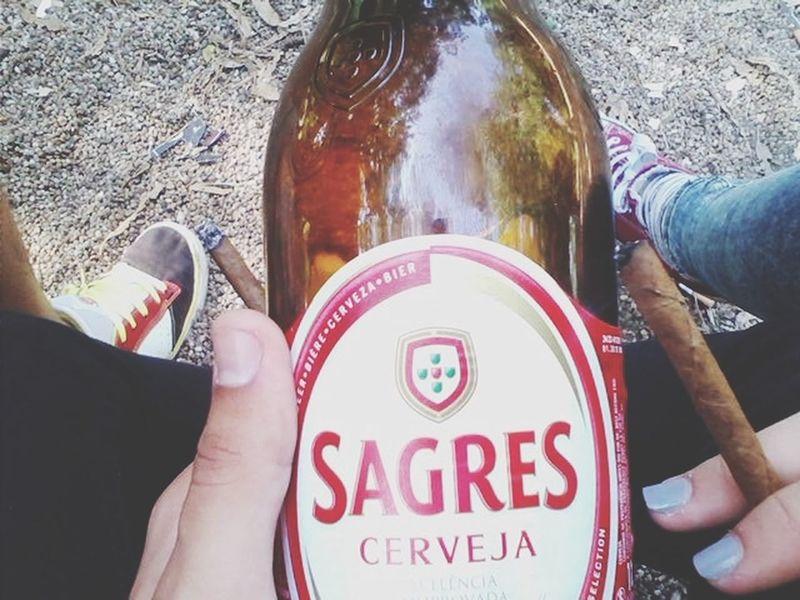 Mi Vida Loca Working Smoking Drinking Beer