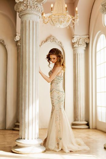 My little fairytale...💗✨ One Person Young Adult Architectural Column Real People Young Women Beautiful Woman Full Length Architecture Looking At Camera Portrait Beauty Standing Built Structure Luxury Lifestyles Indoors  Wedding Dress Day Bride Glamour Fashion Model Dior Chanel Wedding Photography