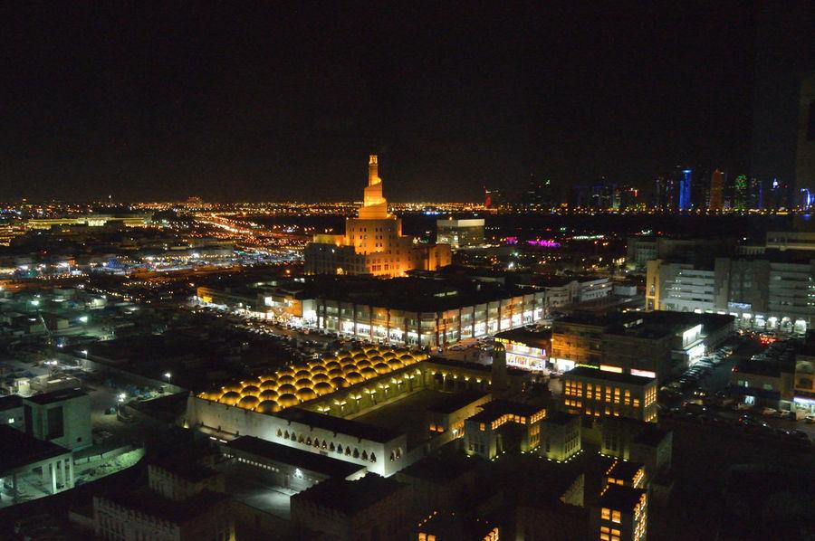 City Doha Skyline Doha Corniche Doha#City#❤ Doha,Qatar Night Lights Fanar View From Above