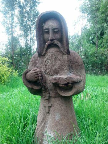 Garden Photography Pray Esculpture Rocks