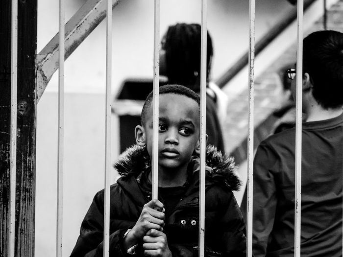 Lost in his thoughts Thoughtful Sadness Sad Eyes Blackandwhite Streetphotography Street Photo Streetphoto_bw Child Close-up