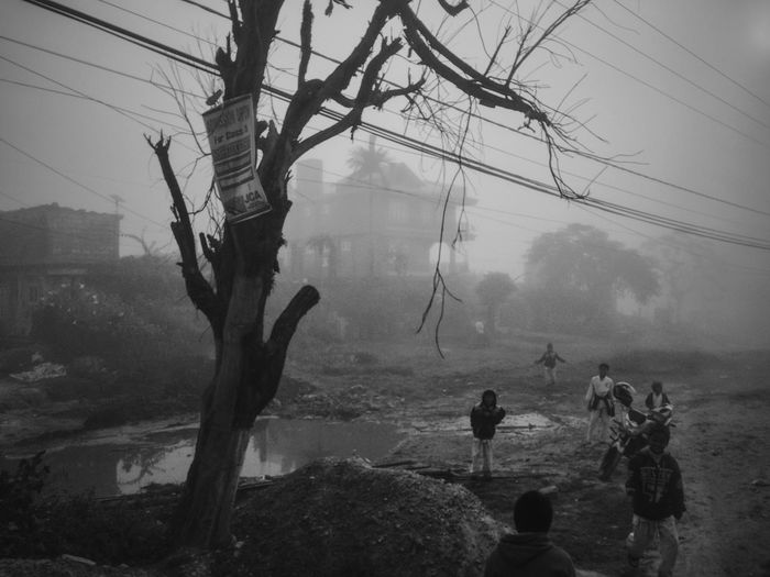 Nepal Nepali  ASIA Blackandwhite Black And White Black & White Blackandwhite Photography Black And White Photography Black&white Bnw Streetphotography Street Photography Streetphoto_bw Fog Foggy Nature Tree Trees Children Black And White Friday