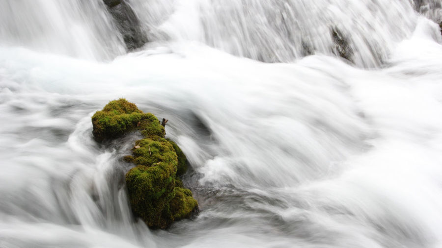 Long Exposure Scenics - Nature Beauty In Nature Waterfall Water Flowing Water Power In Nature Outdoors Stream - Flowing Water Nature Environment No People Moss