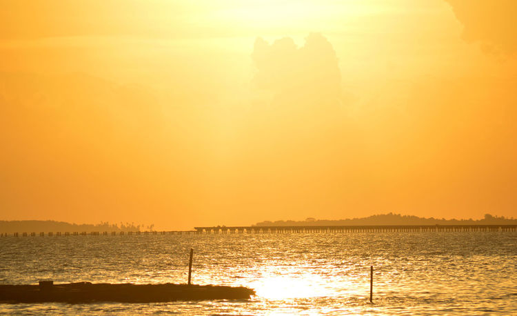 Beauty In Nature Horizon Over Water Nature Orange Color Scenics Sea Show Case March Silhouette Sky Sun Sunlight Sunset Tranquil Scene Tranquility Water Waterfront