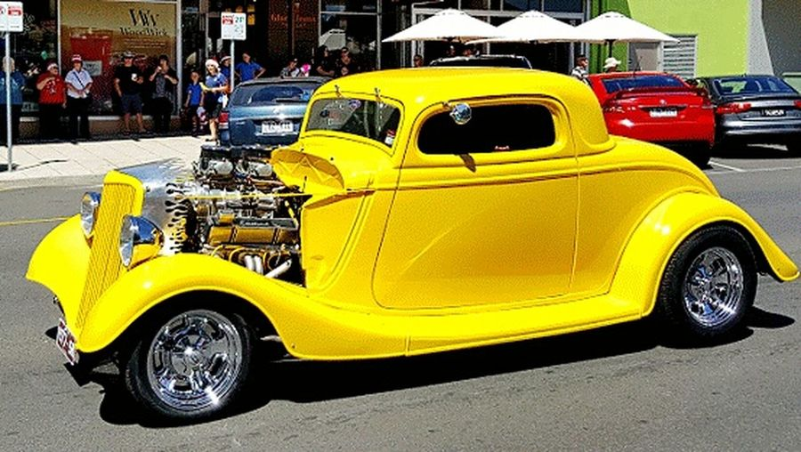 Yellow Car Hotrod Yellow Land Vehicle Collector's Car Car