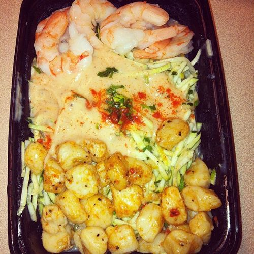 Zesty Shrimp and Scallop Myfitfoods Dinner Healthy Nutrition