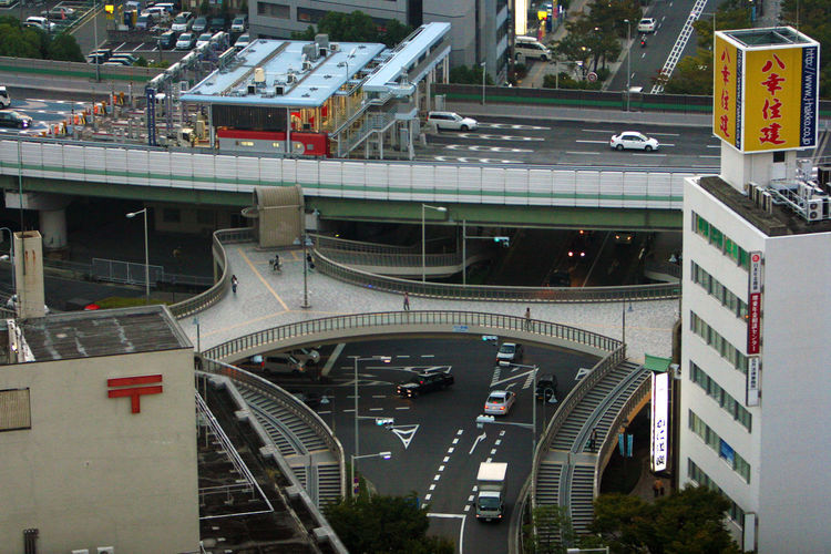 Sakai City Japan Architecture Bridge Bridge - Man Made Structure Building Exterior Built Structure Car City High Angle View Land Vehicle Mode Of Transportation Road Sakai Transportation