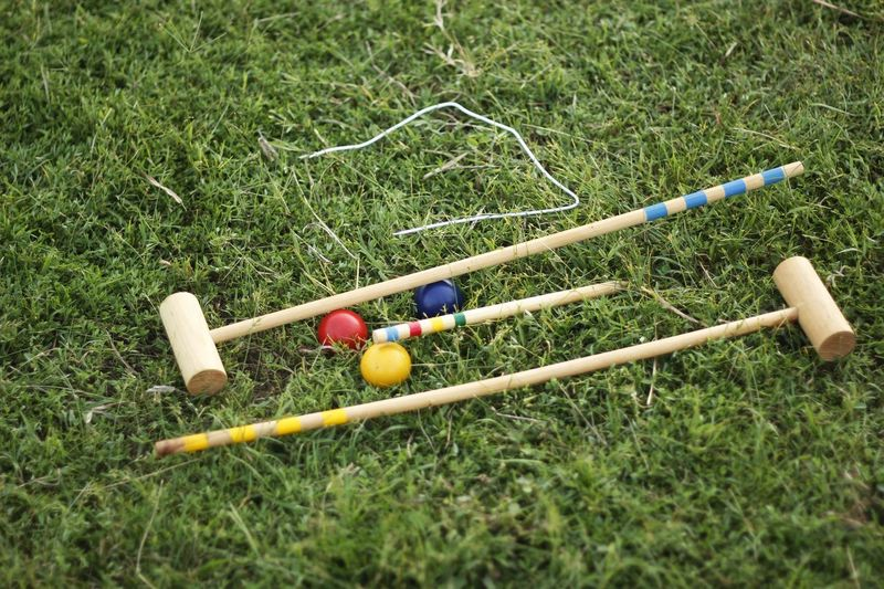 Croquet Close-up Day Grass Leisure Games No People Outdoors Playing Field Sport