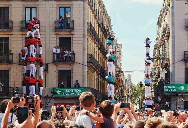 Human Pyramid At Traditional Festival