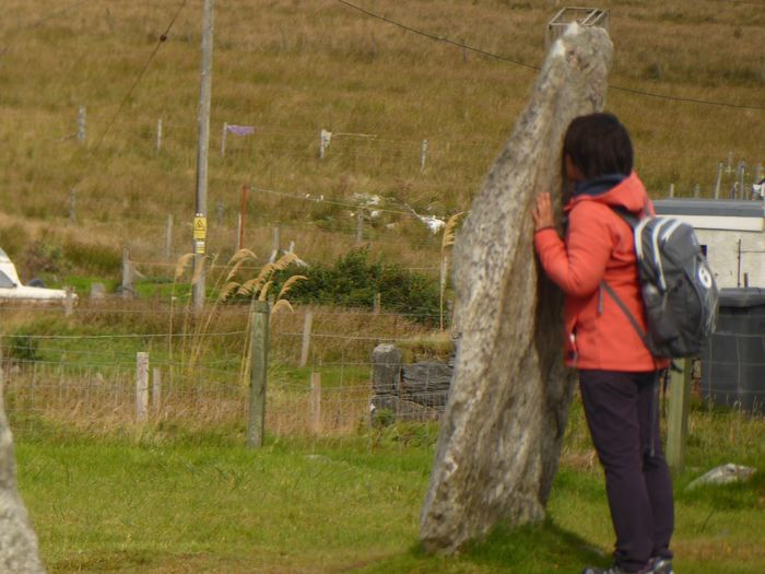 Water Real People Motion Rear View Leisure Activity One Person Standing Lifestyles Grass Spraying Day Nature Casual Clothing Outdoors Long Exposure Men Beauty In Nature Irrigation Equipment Adults Only Adult Scotland Isle Of Lewis Standing Stones Callanish Stones Tranquil Scene