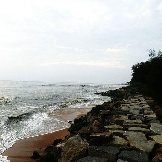 Beach Sea Ocean Evening Rocks TPSextreme Tpscholarship Cherai Kochi Kerala India Instagram