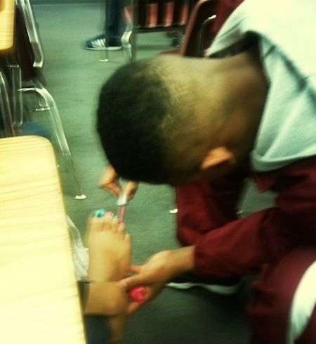 Lmfaooo Ben Painting MY Toes In Class Honey !!