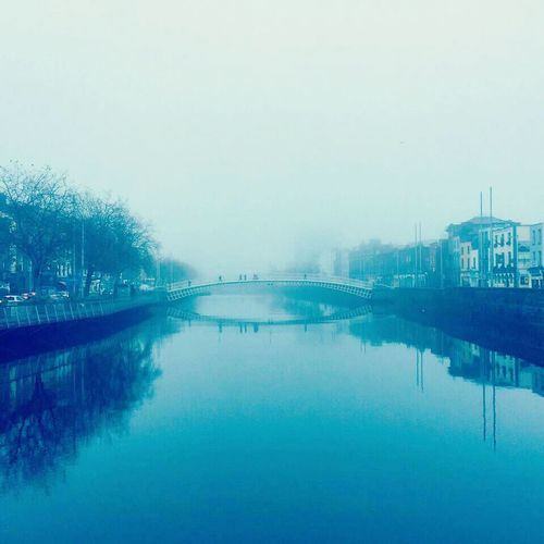 Winters morning in November 2014 IPhoneography Dublin, Ireland Milliumbridge Wellingtonquay Wintertime