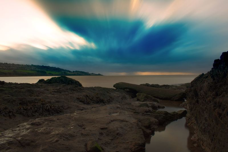 Long exposure as the storm clouds approach Long Exposure Storm Cloud Sky Nature Beauty In Nature Scenics Tranquil Scene Tranquility Water Cloud - Sky Horizon Over Water Outdoors Sea No People Day Sunset