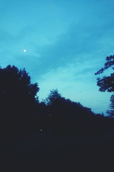 Good Evening Sky And Moon