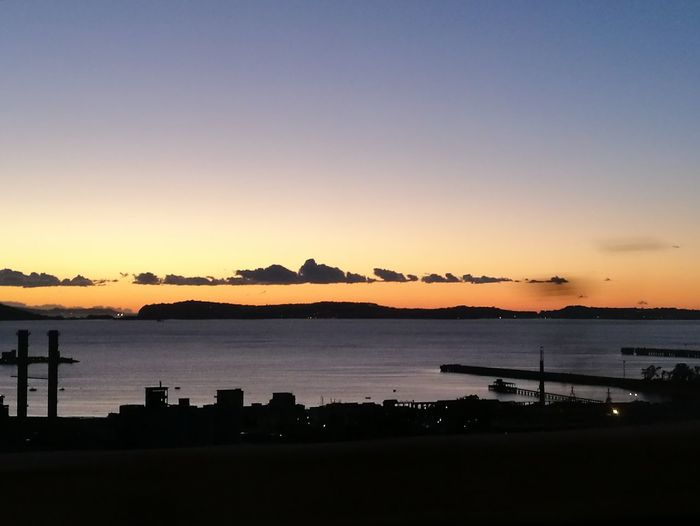 Sunset Silhouette Golfo Di Pozzuoli Napoli Nisida Posillipo Naples Panorama Flegreo