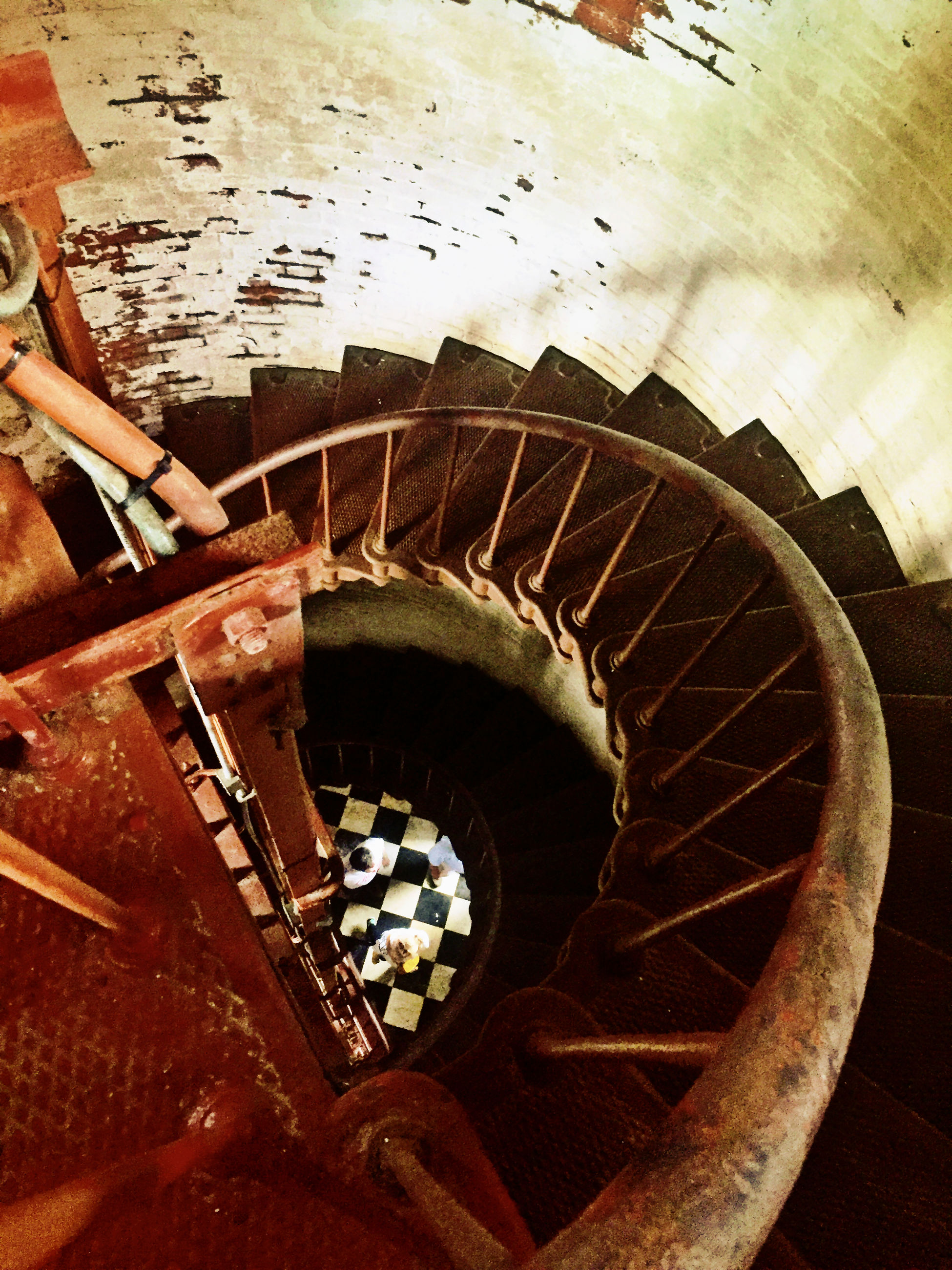high angle view, transportation, built structure, steps, mode of transport, architecture, wheel, water, railing, men, travel, part of, day, staircase, steps and staircases, cropped, lifestyles, leisure activity