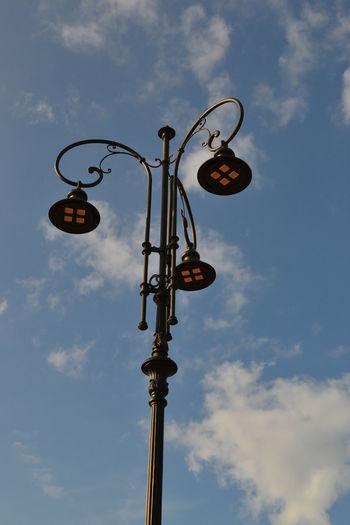 Streetlamp Cloud - Sky Day Low Angle View No People Outdoors Sky Streetlight Streetlights Streetlights And Sky
