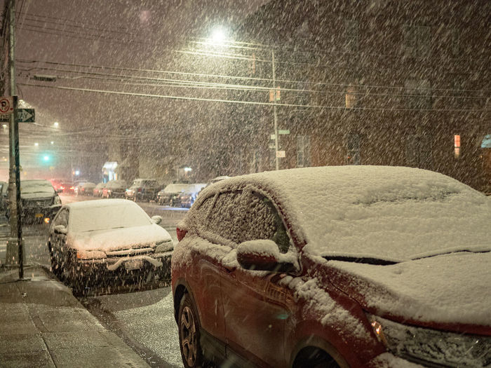 Snow ❄ Architecture Blizzard Car City Cold Temperature Illuminated Land Vehicle Mode Of Transportation Motion Motor Vehicle Nature Night No People Snow Snowing Snowstorm Street Transportation Wet Winter