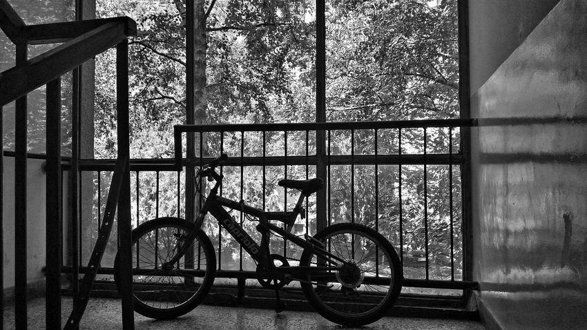 EyeEm Man Blackandwhite Photography Urban Waithing Black And White Bicycle Window Architecture My Best Travel Photo
