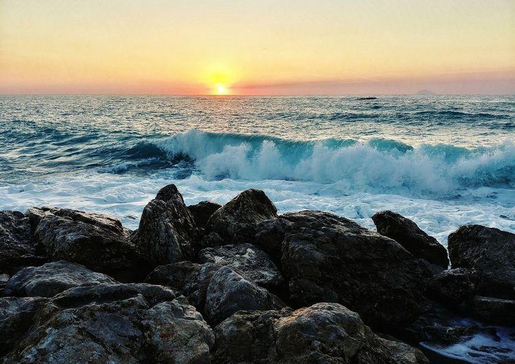 Mare E Cielo Onde Estate Sicilia Luglio Landscape Tramonto Tramonti_italiani Relaxing