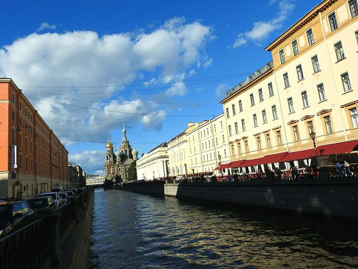Architecture Water Waterfront Cloud River City Life Tourism Canal Cloud - Sky Day Spas Na Krovi Touristic Place Color Palette Saint Petersburg Russia Best City In The World Architecture Eyeem Photo