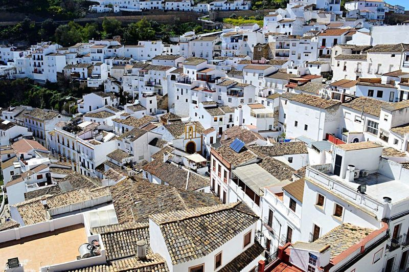 White village Architecture Population Explosion White Village España Building Exterior Residential Structure House High Angle View Town Roof Crowded Residential District TOWNSCAPE Residential Building Development Rooftop Housing Settlement No People Outdoors Wide Shot City Life Old Town