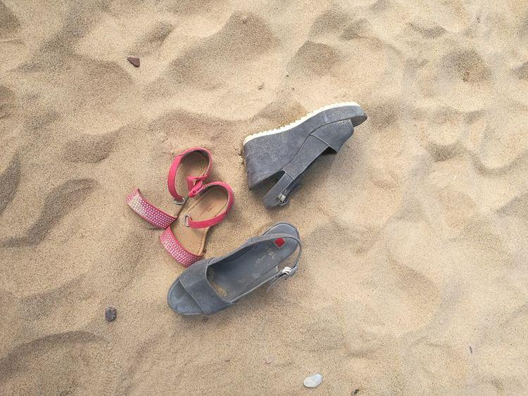EyeEmNewHere Summertime Pair Sand Beach Vacations Shoe Motheranddaughtertime