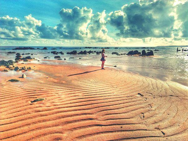 """""""Here I am, alone again, thinking"""" EyeEmNewHere #EyeEmNewHere #summer #beach #photography #Nature  #visitphilippines #Wanderlust #traveler #beachislife #likeforlike #likemyphoto #qlikemyphotos #like4like #likemypic #likeback #ilikeback #10likes #50likes #100likes #20likes #likere #landscape #nature #photography #sunset #sun #clouds #skylovers #skyporn #sky #beautiful #sunset #clouds And Sky #beach #sun _collection #sunst And Clouds #wheninjomalig #solotraveler #outfit #OOTD #summerishere #sky #beachin #beachislifer Water Sea Full Length Beach Sand Sunset Standing Women Sand Dune Sky EyeEmNewHere"""