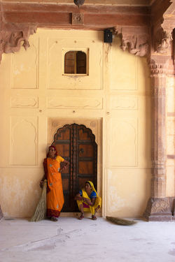 Women at Amber fort Amber Fort Jaipur Architecture Built Structure Clothing Door Entrance Full Length History Real People Standing Traditional Clothing Women