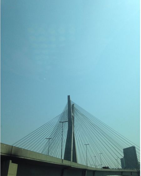 Architecture Built Structure Connection Bridge - Man Made Structure Low Angle View Outdoors Suspension Bridge No People Day Building Exterior My City