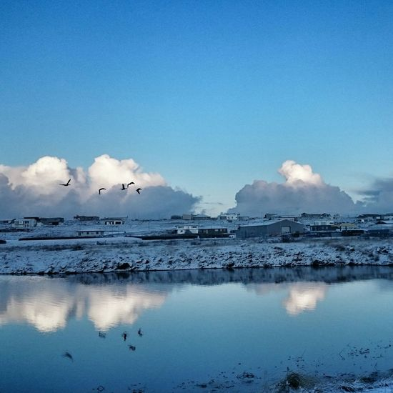 Clouds And Sky Sky Skyporn Mirror Wintertime ⛄ Reflection_collection Water_collection Beautiful Cold Day EyeEm Nature Lover Nature On Your Doorstep Frosty Morning