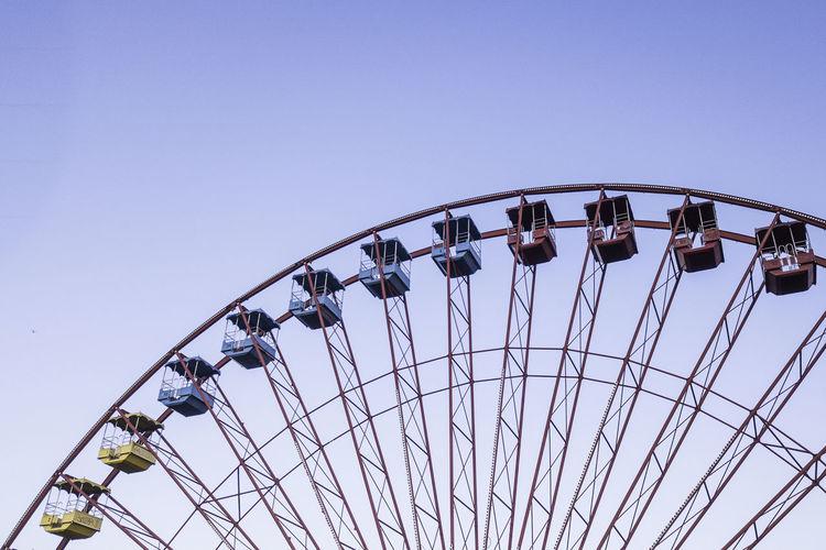 Ways Of Seeing Be. Ready. Colors Red Abandoned Amusement Park Blue Day Ferris Wheel Outdoors Yellow Summer Exploratorium #FREIHEITBERLIN The Street Photographer - 2018 EyeEm Awards The Traveler - 2018 EyeEm Awards #urbanana: The Urban Playground